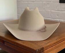 "NEW Stetson Western Cowboy Hat Ranch Tan 7 1/8 5X Fur Felt 4"" Brim Box Women Men"