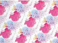 2 Sheets Gift Wrapping Paper Girls Kids Pink Princess Castle Fairy Tale Birthday