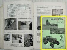 Deutz D25 H1125-5//2 Typ 25.2 Schlepper Diesel Traktor Bedienungsanleitung