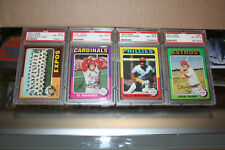 1975 Topps Baseball Singles Psa Graded 8 Nm-Mt or 9 Mint - You Pick From List