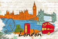 Pack of 6 NEW Postcards, London, England, UK, Landmarks, City, View, Travel 28K