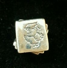 Solid Sterling silver ' Scholar / Books ' charm unbranded stamped 925 Very Heavy