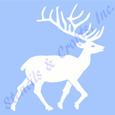 "3 1/2"" DEER STENCIL NORTHWOODS WOOD ANTLERS STENCILS CRAFT STENCILS TEMPLATE NEW"
