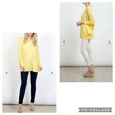 Lemon Batwing Diamante Star Jersey Made In Italy One Size