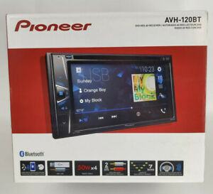 New Pioneer AVH120BT 6.2 in Double Din Bluetooth Receiver Stereo DVD CD USB AUX