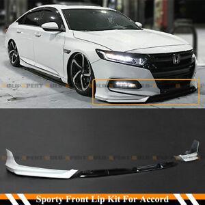 For 2018-2020 10th Gen Honda Accord White Pearl YF Front Bumper Lip Splitter Kit