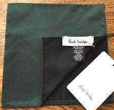 Paul Smith 100% Seide Reversibel dunkelgrün Pocket Square