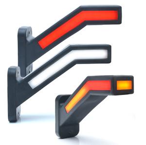 2x LED Neon Stalk Side Marker Light 12V 24V Truck Trailer Position Lamp