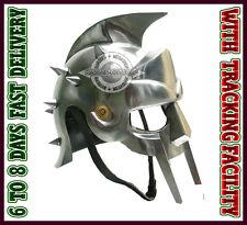 Gladiator maximus helmet larp Helmets W/ Liner Chin Strap a36