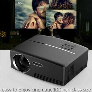 4K Portable LED 3D Full HD 1080P Home Theater Projector LCD Mini Cinema HDMI UK