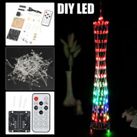Electronic DIY LED Light Kit Guangzhou Tower With Remote Control USB Charging