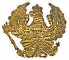 German Pickelhaube Brass Prussia Wappen Badge Prussian Helmet Field Badge