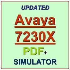Avaya Aura Communication Applications 7230X Exam Test QA PDF+Simulator