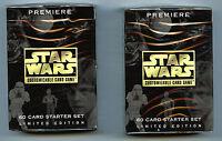 Star Wars Premiere Limited Edition CCG Starter Deck set (2X) new 1995 Decipher