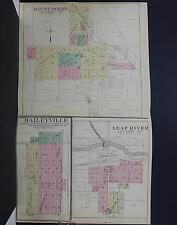 Illinois, Ogle County Map, 1912 Mount Morris, Leaf River, Baileyville S1