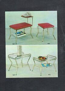 D325 Antique Advertising Chrome 5x7 Postcard midcentury modern furniture