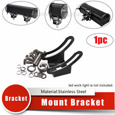 1 set  Stainless Steel Bottom Mount Brackets for LED Work Light Bar Holder