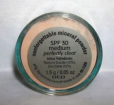 COLORESCIENCE PRO Sunforgettable LOOSE Mineral Powder MED Perfectly Clear .05 oz
