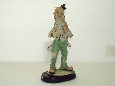 Hand Painted Accordion-Playing Hobo Clown Figurine by Pucci