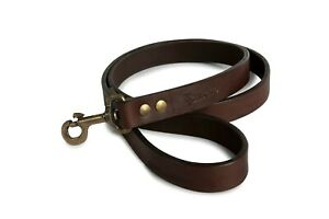 Leather Dog Leash Hand-Crafted Lead Training Argentinian Polo Style Long Clip