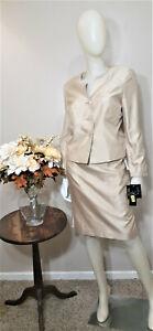 LE SUIT PETITE Champagne  2-Piece Skirt  Suit-Size 10P