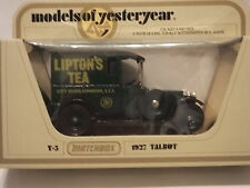 MATCHBOX MODELS OF YESTERYEAR - Y-5 1927 TALBOT - LIPTON'S TEA - SCALE 1:47