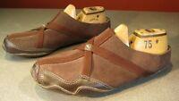 Women's Reebok Slip on Brown Leather Flats Mules