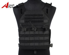 Tactical Military Molle Plate Carrier JPC Vest Airsoft Hunting Paintball Black
