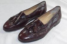 Salvatore Ferragamo Burgundy Tassle Loafer Dress Shoes 10.5 EE Leather Italy