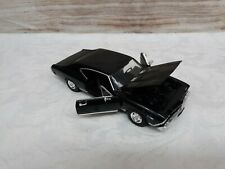 1968 CHEVY CHEVELLE SS 396 WELLY 29397WBK 1/24 DIECAST CAR Black