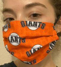 San Francisco Giants Baseball Orange Face Mask 100% Cotton, Washable