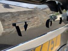 Rare Volvo Emblem Letters Lettering Logo Brilliant Shiny Piano Black New