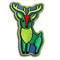 Deer Patch Iron on Boho Zoo Sew Cartoon Retro Applique Kids Baby Animal Cute V2