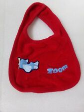 Red Cotton Terry Cloth Zoom Airplane Baby Infant Bib - Us Mommy Seller