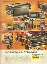 Bates Saddlebags Motorcycle 1979 Magazine Advert #425