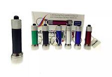 5 LED Mini Flashlight Keyring Torch Aluminum Keychain With Batteries Pocket Size