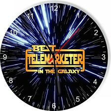 Best Telemarketer in the Star Galaxy Space Kitchen Living room Wall Clock