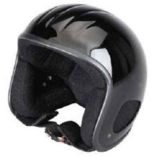 TITAN jethelm moto casco taglia XL 58/59 NERO LUCIDO Rocker Chopper Harley CASCO
