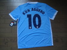 Manchester City #10 Kun Aguero 100% Original Jersey Shirt L 2015/16 CL Home BNWT