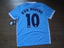 Manchester City #10 Kun Aguero 100% Original Jersey Shirt L 2015/16 CL Home BNWT