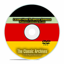 Learn How To Speak German, Fast & Easy Foreign Language Training Course, DVD D95