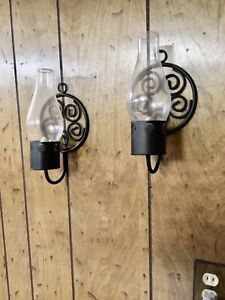 Rod Iron Looking Candle Lamps