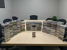 Rare Vintage Panasonic RX-5100 80s 90s Boombox Bluetooth 200 Cassette Tapes Lot