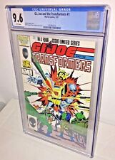 G.I. Joe and the Transformers #1, CGC 9.6, White Pages