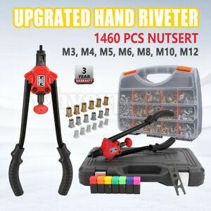 1460pcs Rivet Nut Gun Kit Rivnut Tool Nut Setter Thread Setting Nutsert Sae