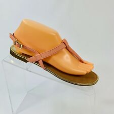 Sam & Libby Women's size 7.5 Salmon Thong Flip Flop Buckle Ankle Strap Sandals