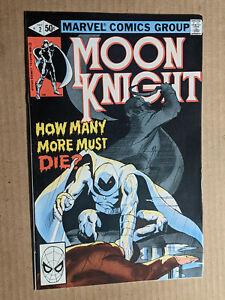 Moon Knight #2 1st Print 1980 1st Series Sienkiewicz Cover 8.5 - 9.0