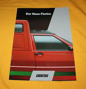 Fiat Fiorino 1988 Prospekt Brochure Catalog Depliant Prospetto Broschyr Folder