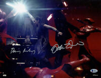 DAISY RIDLEY ADAM DRIVER DUAL SIGNED 11x14 PHOTO STAR WARS BECKETT WITNESSED BAS