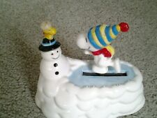 "Willitts Snoopy & Woodstock 90s Animated Skating Music Box ""Skaters Waltz As Is"